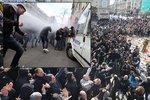 Hajlování, protiimigrantské slogany: Belgické radikály rozháněla vodní děla