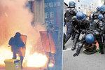 Tvrdé protesty ochromily Francii: 24 zraněných policistů, 124 zatčených