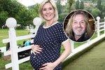 Poslední foto před porodem: Manželka Pepy Vojtka z Kabátů má nahoře 13 kilo!