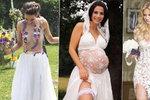 Pět nejodvážnějších svatebních šatů českých krásek: Nahá Doubravová, sexy Berdychová i těhotná Decastelo!