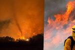 Kalifornie v plamenech: Lesní požáry se rychle šíří! Způsobují ohnivá tornáda