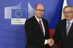 Šéf Evropské komise Juncker: Sobotka mě zapřísahal, ať neodcházím z funkce