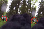 Pes objevil v lese legendárního bigfoota, natočil ho kamerou připevněnou k tělu