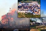 Požár na Barrandově: Hořely filmové kulisy, byli zranění. Škoda přes 100 milionů