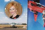 Geislerová riskovala život: S padákem a chlapem na zádech skočila z nebes!