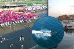 Dovolená jen pro odvážné: Sýrie láká rekreanty na plné pláže turistů a vodní hrátky