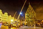 """Exkluzivně na Blesk.cz: Podívejte se, jak na """"Staromáku"""" za noc vyrostl vánoční strom"""