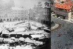 Zapomenutá dominanta »Staromáku«: Mariánský sloup svrhli anarchisté. Ukazoval čas, připomínal válku