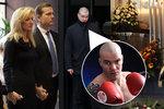 Pohřeb otce Kateřiny Brožové: Uplakanou herečku hlídal boxer Ondřej Pála!