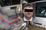 Řidiče autobusu Sašu probodla za jízdy železná tyč: Jen o 2 centimetry minula srdce