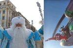Rusové skočili z vrtulníku v převleku za dědy Mráze. I se stromkem