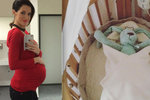 Modelka Křížková ve 40. týdnu těhotenství: Stará postýlka pro miminko