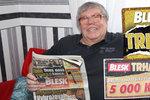 Dalším šťastným výhercem je Mirek Šedivý (73) z Měřína: V Trháku trhl 5 000 Kč