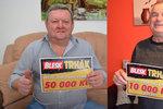 Šťastný výherce Josef Vaněk (68) z Brna:Mámo, vyhráli jsme 50 tisíc!