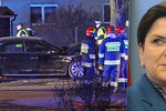 Polská premiérka se ozvala z nemocnice. Jak je jí po nehodě u Osvětimi?