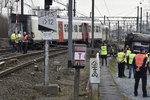Blízko Bruselu vykolejil vlak: Jeden člověk zemřel, další jsou zranění