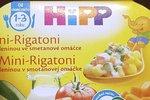 Mini-Rigatoni pro děti od 1 do 3 let, bohužel obsahují tak málo bílkovin, že dítě pořádně nezasytí
