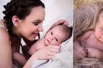 Míša Doubravová Tomešová s čerstvě narozeným synkem. Po porodu si dala kapsle z vlastní placenty.
