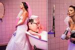 Těhotná Prachařová: Vystavila bříško a rostoucí prsa ve svatebních šatech!