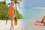 Verešová si užívá na Maledivách a fotí sexy fotky nahoře bez