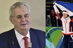 Bruslařka Sáblíková dostane od Zemana vyznamenání: Už ji pozval na Hrad