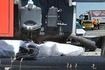 Nehoda na nájezdu na D11: Motorkář zemřel po střetu s náklaďákem