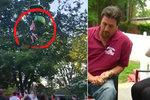 Dramatická záchrana: Dívka vyklouzla z lanovky, chytili ji kolemjdoucí