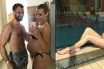 Hanka Mašlíková na poslední dovolené před porodem: Takhle vystavovala těhotenské bříško u bazénu!