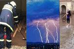 Do Čech přišly silné bouřky. Hrozí krupobití a vylití toků, sledujte radar