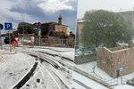 Neuvěřitelná dovolená v Chorvatsku: Bouřka přinesla sníh a kroupy