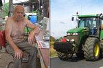 Neuvěřitelná anabáze asi nejstaršího traktoristy Česka (84): Místo 5 kilometrů najel 89!