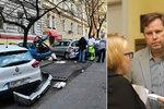 Expolicista v opilosti naboural desítky aut na Vinohradech: Uhradí i zbytek škody