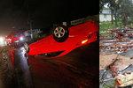 """Tornáda, záplavy, čtyři mrtví a miliony lidí bez proudu. """"Irmageddon"""" řádí v USA"""