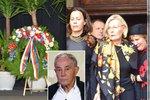 Pohřeb Jana Třísky (†80): Krásná slova i modré kecky na poslední běh