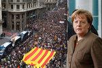 Merkelová si kvůli Katalánsku volala s Junckerem. Hrozba odtržení je vážná