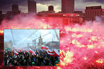 Svátku nezávislosti v Polsku se chopili fašisté. Přijeli i ti zahraniční