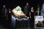 Poslední rozloučení se synovcem Pavla Zedníčka Jakubem (†27): Strejda Čmaňa přišel pozdě!