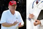 Trump má nadváhu a vysoký cholesterol, varují lékaři. Dnes ho vyšetří i psychiatr