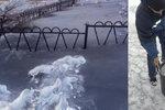Ve městě napadl sníh jako popel. Lidé se bojí o své zdraví