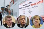 """Na """"sjezd mocných"""" míří Trump a Merkelová. Do zasněženého Davosu se těší i Babiš"""