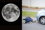 Měsíc může za nehody: Ve středu přijde superúplněk, na silnicích tak hrozí tragédie
