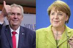 Zemanovi pogratulovala už i Merkelová. Kancléřka s tím ale nekvaltovala