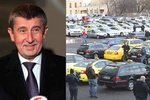 Taxikáři hrozí dalšími stávkami: Pokud Uber a Taxify neposlechnou Babišovu výzvu, vyrazí do ulic