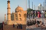 Silný vítr poškodil jeden ze sedmi divů světa: Tádž Mahal přišel o své ikonické minarety