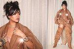 Rihanna si navlékla otřesný model: V hnědém pytli ale ukázala prsa!