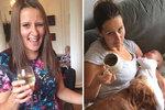 Před a po narození dětí.
