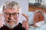 Náhlá operace Josefa Klímy: Rozřízli mu krk! Hrozil mu slavík!