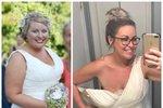 Z obézní nevěsty o 42 kilogramů lehčí kráskou! Co pro to musela udělat?