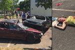 Náklaďák naboural a vjel do lidí, na místě jsou mrtví i zranění! U Rozvadova cvičilo 500 lidí