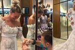 Slavná sportovkyně zkoušela u Matragi z legrace svatební šaty: Přítel ji rovnou požádal o ruku!